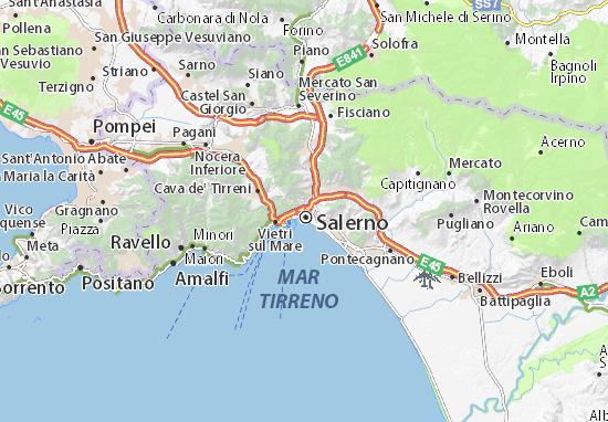 Cartina Italia Salerno.Mappa Michelin Salerno Pinatina Di Salerno Viamichelin