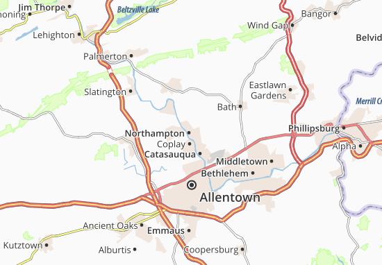 Carte-Plan Northampton