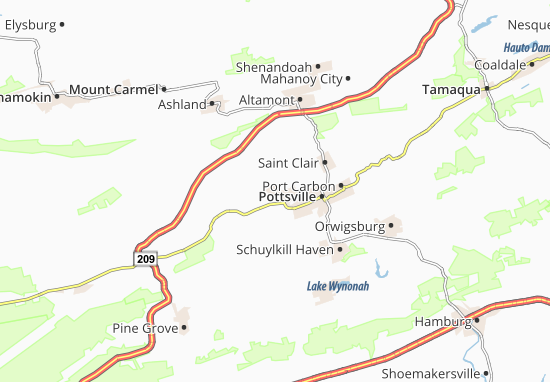 Minersville Map