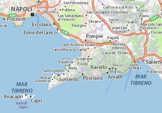 Mappa Bagni di Pozzano - Cartina Bagni di Pozzano ViaMichelin