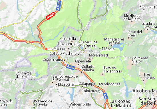 Collado Mediano Map