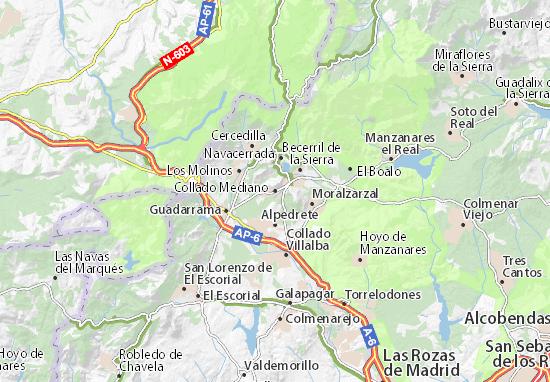 Karte Stadtplan Collado Mediano