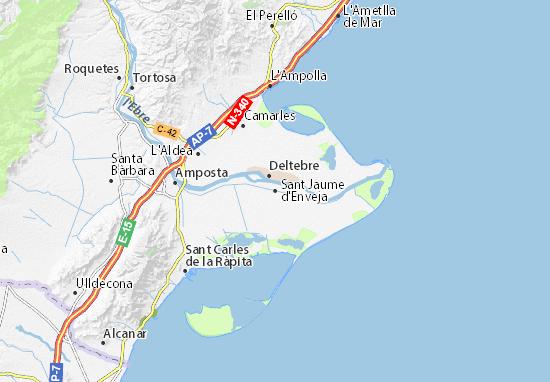 Sant Jaume d'Enveja Map
