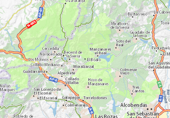Karte Stadtplan El Boalo