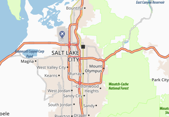 Carte-Plan South Salt Lake