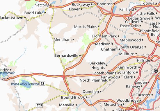 Bernardsville Map