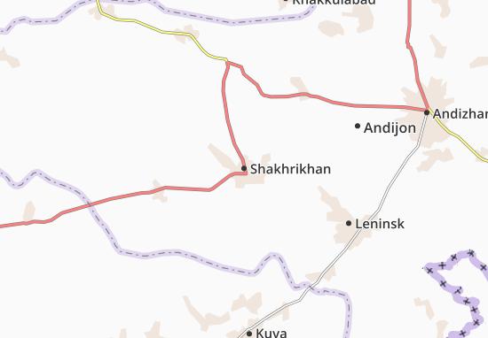 Map Of Shakhrikhan Michelin Shakhrikhan Map ViaMichelin - Leninsk map