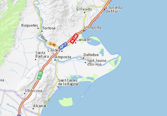 Deltebre Map