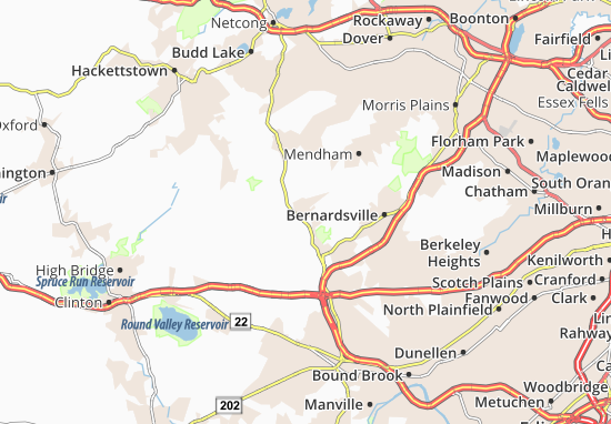 Peapack and Gladstone Map