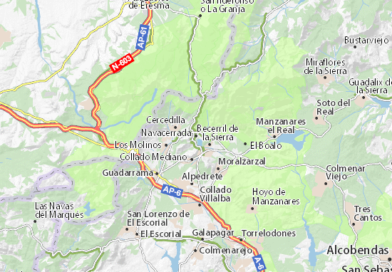 Navacerrada Map