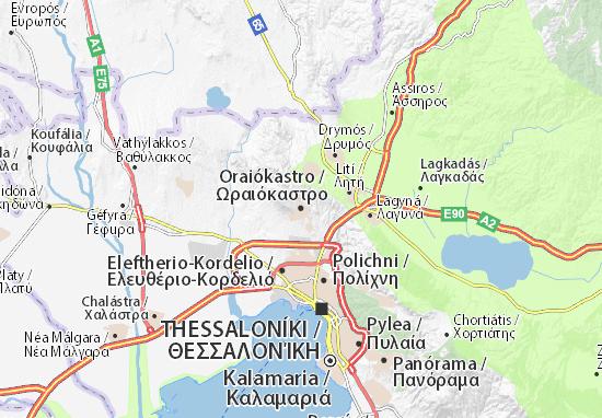 Oraiókastro Map