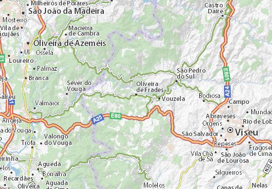 Mapa Plano Oliveira de Frades