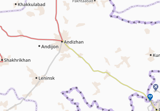 Map Of Zaurak Michelin Zaurak Map ViaMichelin - Leninsk map