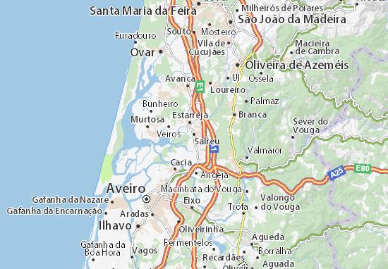 Map Of Salreu Michelin Salreu Map ViaMichelin - Vagos portugal map