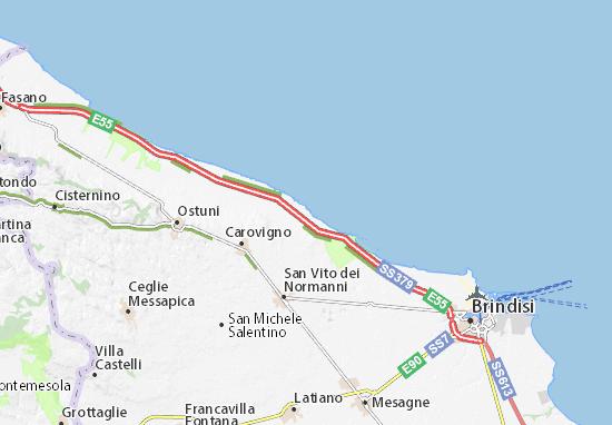 Cartina Puglia Carovigno.Mappa Michelin Specchiolla Pinatina Di Specchiolla Viamichelin