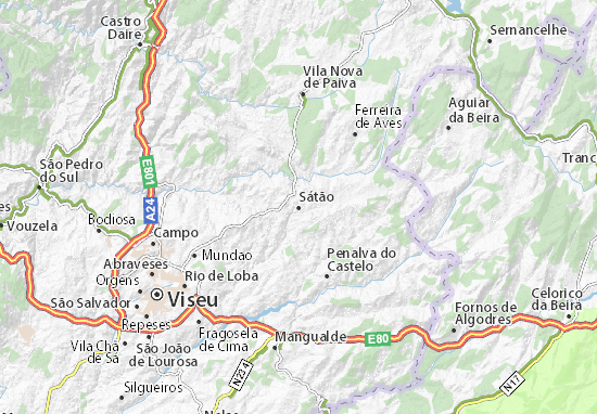 Sátão Map
