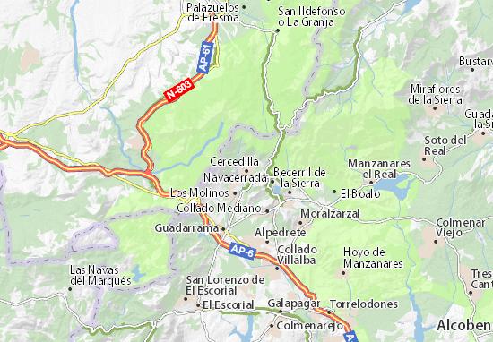 Karte Stadtplan Cercedilla