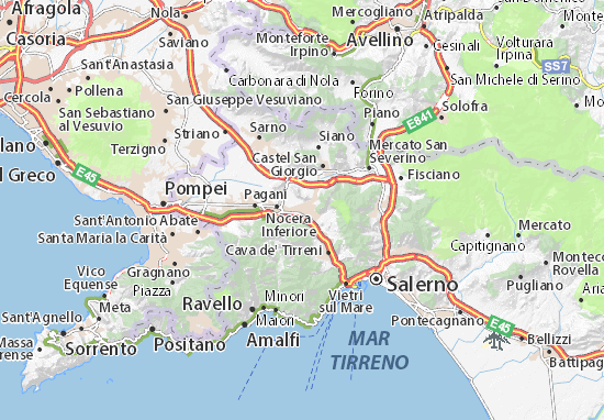 Karte Stadtplan Nocera Superiore