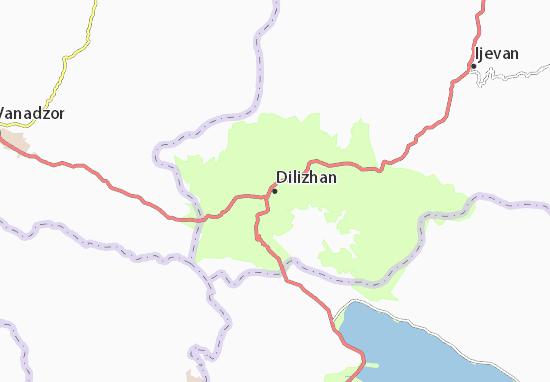 Kaart Plattegrond Dilizhan