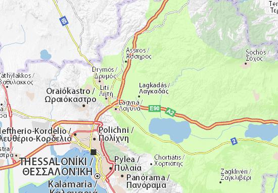 Lagkadás Map