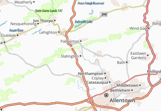 Slatington Map
