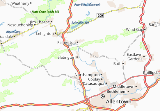 Mapa Plano Walnutport