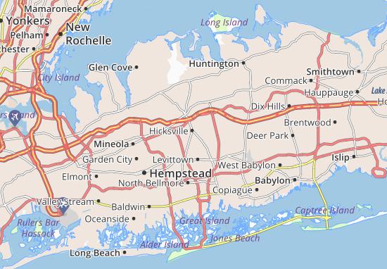 Hicksville Map