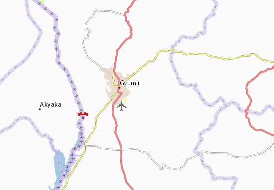 Mapa Plano Akhuryan