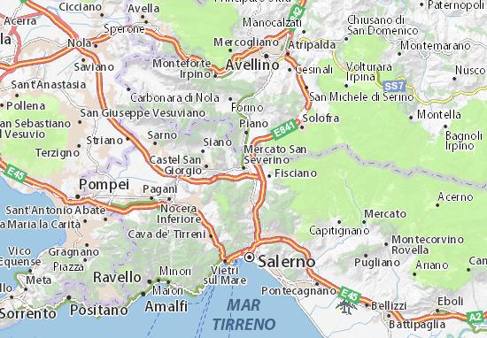 Mapa Mercato San Severino