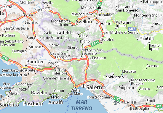 Mapas-Planos Mercato San Severino