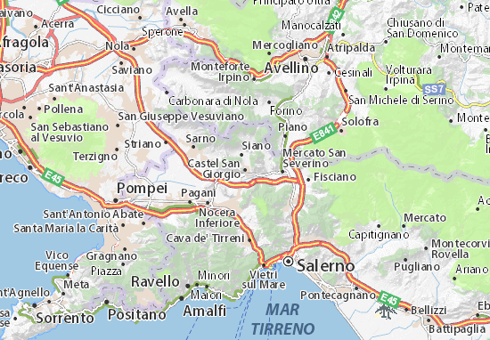 Mapas-Planos Castel San Giorgio