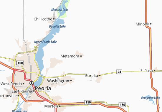 Mapa Metamora