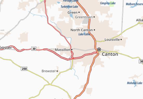 Carte-Plan Massillon