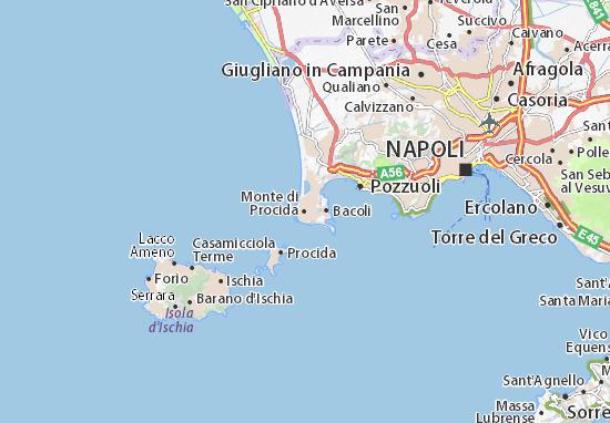Monte di Procida Map