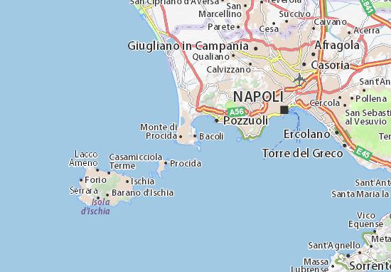 Cartina Turistica Napoli Centro.Mappa Michelin Bacoli Pinatina Di Bacoli Viamichelin