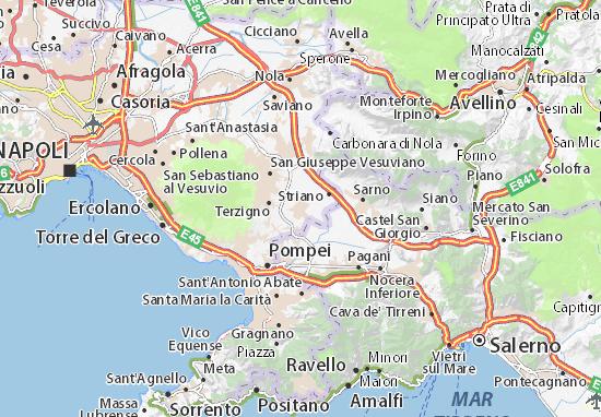 Cartina Vomero Napoli.Mappa Michelin Poggiomarino Pinatina Di Poggiomarino Viamichelin