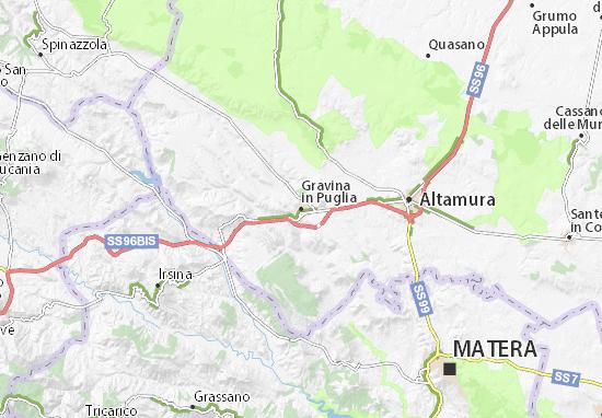Cartina Di Gravina In Puglia.Mappa Gravina In Puglia Cartina Gravina In Puglia Viamichelin