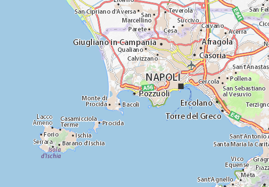 Cartina Stradale Di Napoli Centro.Mappa Michelin Pozzuoli Pinatina Di Pozzuoli Viamichelin
