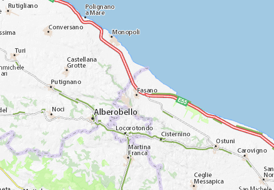 Cartina Puglia Alberobello.Mappa Fasano Cartina Fasano Viamichelin