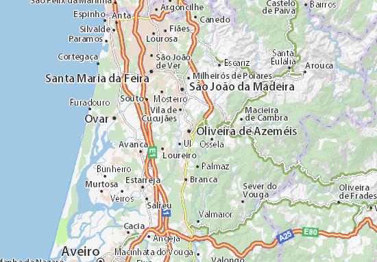 Oliveira de Azeméis Map
