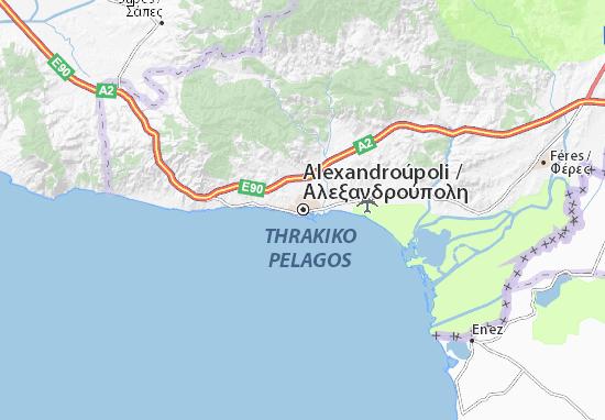 Carte-Plan Alexandroúpoli