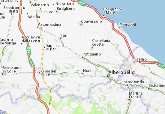 Cartina Puglia Google Maps.Mappa Michelin Putignano Pinatina Di Putignano Viamichelin