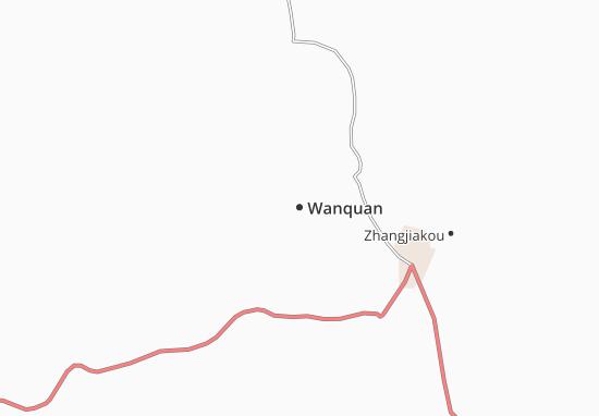 Kaart Plattegrond Wanquan