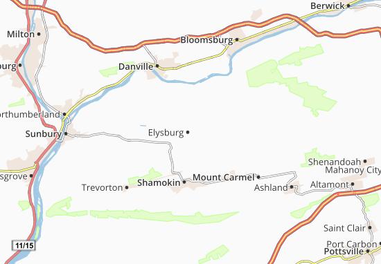 Elysburg Map