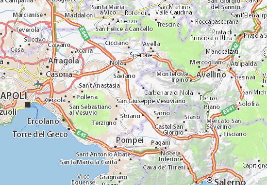 La Cartina Geografica Della Campania.Mappa Michelin Palma Campania Pinatina Di Palma Campania Viamichelin