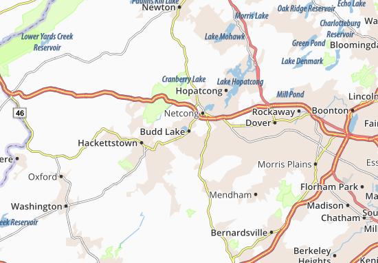 Budd Lake Map