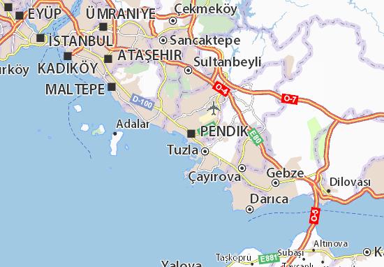 Mapa Plano Pendik