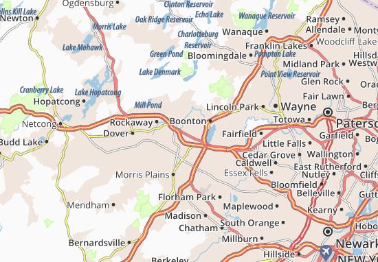 Mountain Lakes Map