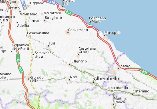 Castellana Grotte Map