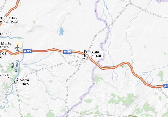 Peñaranda de Bracamonte Map
